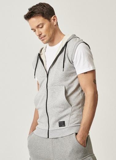 AC&Co / Altınyıldız Classics Slim Fit Günlük Rahat Spor Sweatshirt Yelek 4A5221100045 Gri